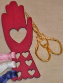 Heart in Hand Thread Keep from Kelmscott Designs