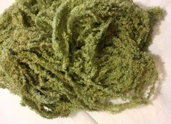 Lady Dot Hand Dyed 100/% cotton Eyelash Chenille Trim Alge 9 yds