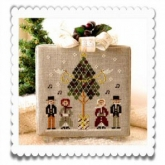 Caroling Quartet ~ Chart #3 ~ Hometown Holiday Series from Little House Needleworks