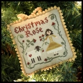 Christmas Rose ~ Chart #4  in the Sampler Tree Ornament Series from Little House Needleworks