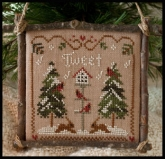 Cardinal Winter from Little House Needleworks ~ Chart #1 Ornament of the Month Series 2011