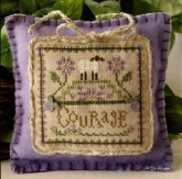 Courage ~ Little Sheep Virtues #4 from Little House Needleworks