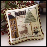 Deer Valley Inn ~ Chart #5 in the Sampler Tree Ornament Series from Little House Needleworks