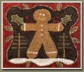 The Gingerbread Man ~ Punch Needle from Little House Needleworks