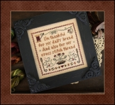 Giving Thanks ~ Chart and Threads from  Little House Needleworks Nashville Market kit