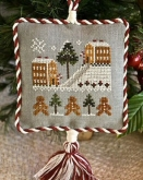 Gingerbread Village ~ Ornament #4 from Little House Needleworks