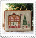 Firehouse ~ Chart #7 in the Hometown Holiday series from Little House Needleworks
