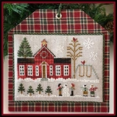 Schoolhouse  ~ Chart #11 ~ Hometown Holiday series ~ Little House Needleworks