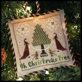 Oh Christmas Tree ~ Chart #2 in the Sampler Tree Ornament Series from Little House Needleworks