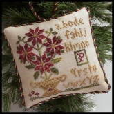 Potted Poinsettia ~ Chart #8 in the Sampler Tree Ornament Series from Little House Needleworks