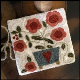 Potted Posies ~ Punch Needle design from Little House Needleworks