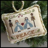 Peace ~ Chart #7 in the Sampler Tree Ornament Series from Little House Needleworks