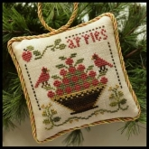 Sweet Apples ~ Chart #6 in the Sampler Tree Ornament Series from Little House Needleworks