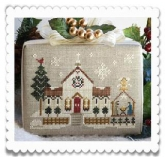Town Church ~ Chart #6 ~ Hometown Holiday Series from Little House Needleworks