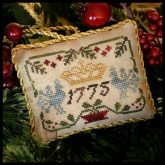 Three Crowns  ~ Chart  #3 in the Sampler Tree Ornament Series from Little House Needleworks