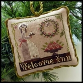 Welcome Inn ~  Chart #9 in the Sampler Tree Ornament Series from Little House Needleworks