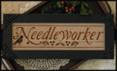 Needleworker chart & hand dyed cotton ~ Little House Needleworks