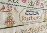 Betsy Croome 1789 ~ Reproduction Sampler from Lindsay Lane Designs ~ Nashville 2017