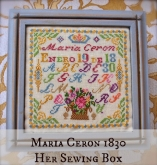 Maria Ceron ~ Her Sewing Box ~ Part 2 of the Maria Ceron Sampler Series from Lindsay Lane Designs