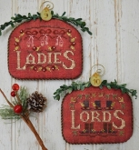 Ladies & Lords ~ #5 of 12 Days Ornament Series from Hands on Design