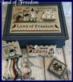 Land of Freedom Sewing Box & Accessories from Mani di Donna ~ Nashville 2017 ~ 1 only!