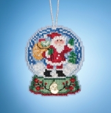 Santa Globe (2019) ~ Charmed Ornaments from Mill Hill