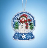 Snowman Globe (2019) ~ Charmed Ornaments from Mill Hill