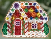 Gingerbread Cottage (2015) Seasonal Ornament Kit from Mill Hill