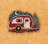 Happy Camper (2017) ~ Seasonal Ornament Kit from Mill Hill