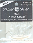 Nymo Thread from Mill Hill ~ White or Black