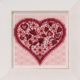 Valentine Heart (2019) ~ Buttons & Beads kit from Mill Hill