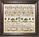 M Woods 1759 Reproduction Sampler from Milady's Needle