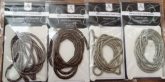 Metallic Soft Twist Trim Cords #12 ~  1m lengths
