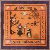 My Dog Loves Halloween ~ Seasonal Chart & Buttons from MTV Designs