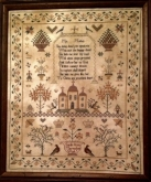 Sarah Ann Marven 1838 ~ Reproduction Sampler from Merry Wind Farm ~ Nashville 2017