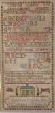 Catharine Isabella Suliss ~ Canadian Reproduction Sampler from Needlework Press