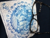Blue Micro Fiber Glasses Cleaning Cloth from Needlework Press