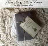 Prim Grey ~ 30 count hand dyed linen from the Primitive Hare