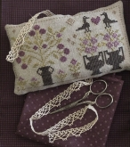 Summer Violets Pyn Pillow from Pheasant Street Samplers