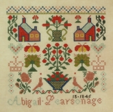 Abigail Pearson 1845 from Queenstown Sampler Designs