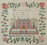 Elizabeth Jordan 1841 ~ Reproduction Sampler from Queenstown Sampler Designs ~ Nashville 2017