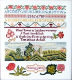 Hannah Gurney 1769 Reproduction Sampler from Queenstown Sampler Designs ~  Nashville 2019