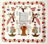 Mary Ann Pearson 1838 ~ Reproduction Sampler from Queenstown Sampler Designs ~ Nashville 2017