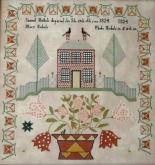 Phebe Nichols 1824 ~ Reproduction Sampler from Queenstown Sampler Designs ~ Nashville 2017