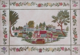 Townscape c. 1850 from Queenstown Sampler Designs