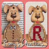 Stitch In Wood Dog kit from Romy's Creations