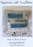 Happiness with Snowflakes ~ Chart & Charms ~ Romy's Creations ~ 1 only ~ Save 25%!