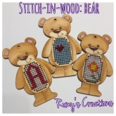 Stitch In Wood Bear kit from Romy's Creations ~ 1 only ~ Save 25%!