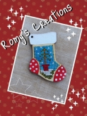 Stitch In Wood Stocking kit from Romy's Creations