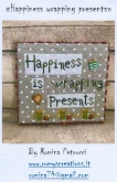 Happiness is Wrapping Presents ~ Chart & Charms ~ Romy's Creations ~ 1 only ~ Save 25%!